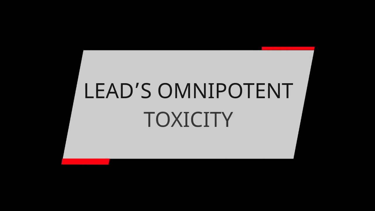 LEAD'S OMNIPOTENT TOXICITY