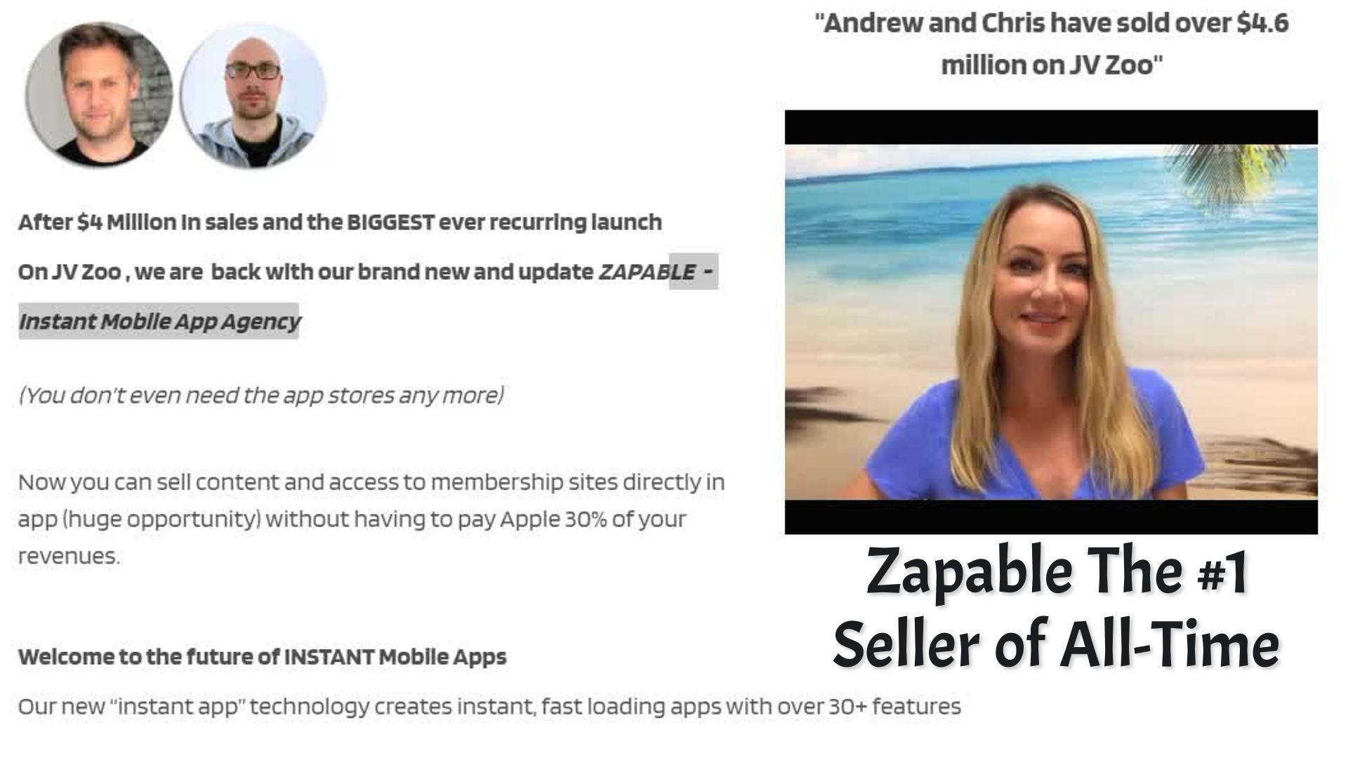 Zapable Sales Report